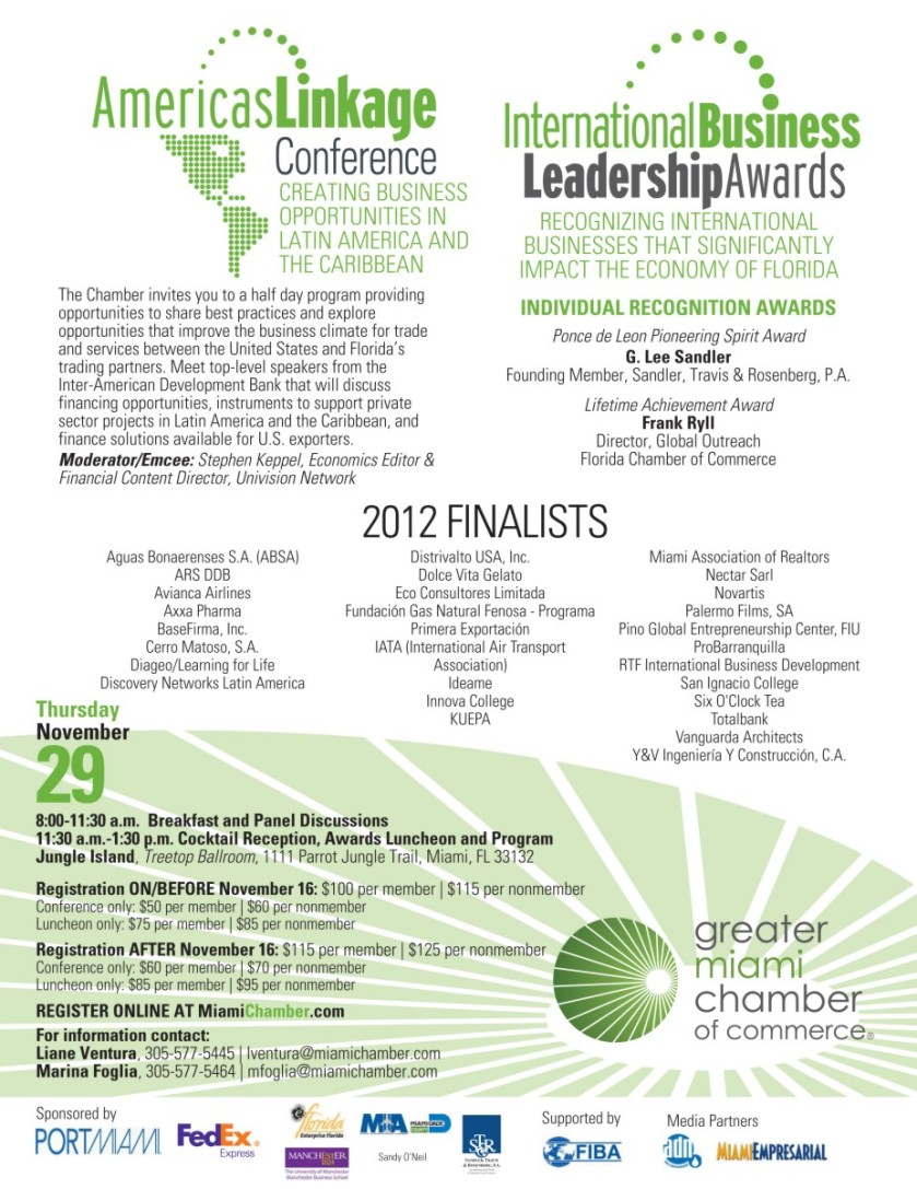 Proud Media Sponsor of GMCC Americas Linkage Conference & Sixth Int'l Business Leadership Awards