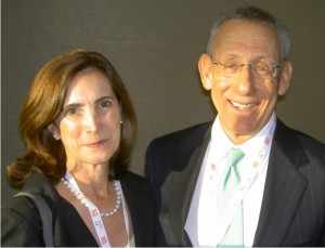 Frances Sevilla Sacasa with Stephen Ross