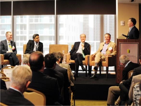 Seamus Foran, Paulo Melo, Mark Myers and Michael Fuchs