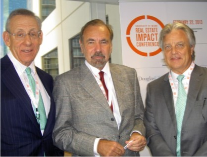 Stephen Ross, Jorge Pérez and Alan Ojeda