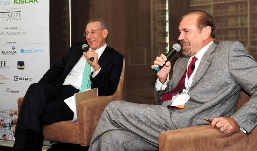 Stephen Ross and Jorge Pérez