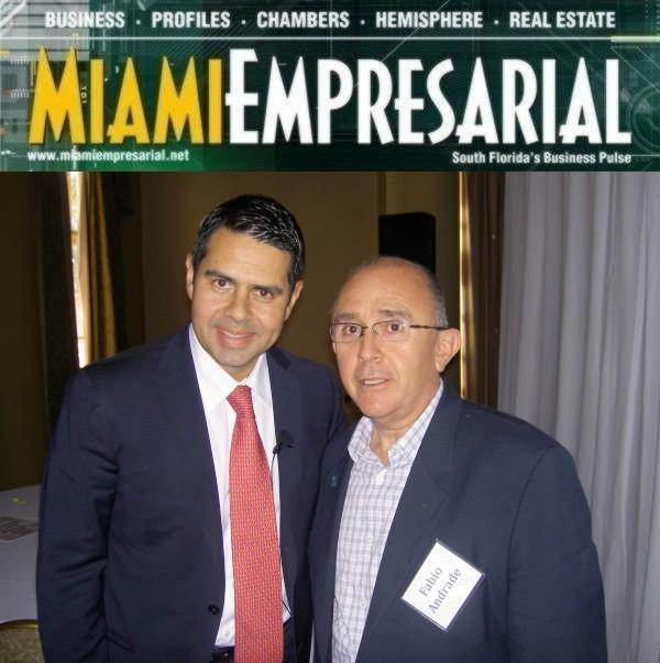 Univision President Cesar Conde and Fabio Andrade