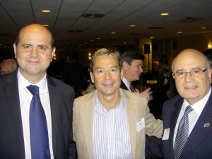Ramon Tisaire, Mario Buisan,  Consejero Comercial y Económico de la Embajada de España en Miami y Mario Sacasa, Vice Presidente del Beacon Council