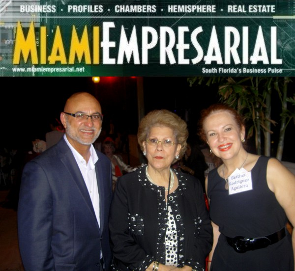 Richard Lozada, Antonia Novello, M.D. and Bettina Rodríguez-Aguilera