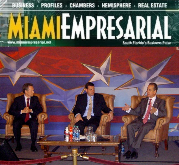 Rubén Barrales with Congressmen David Baladao (CA) and Mario Díaz-Balart (FL)