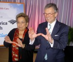 Donna E. Shalala and  Former Senate Majority Leader Tom Daschle
