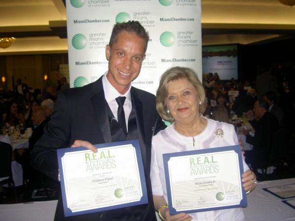 Award Winners Alicia Cervera. Sr. and Cristiano Piquet