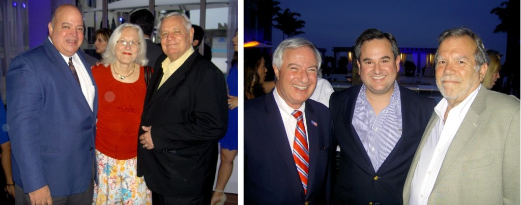 Arquimedes Trujillo, Anne and John Knowles, Former Coral Gables Mayor Don Slesnick, Mario Garcia-Serra and guest