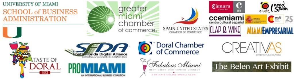 Al;l media partner logos