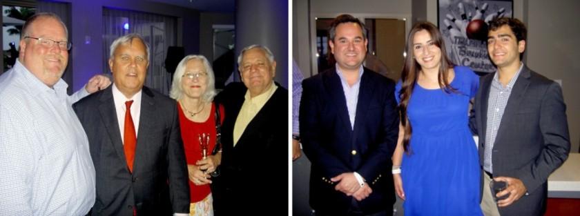 Mark A. Trowbridge, Mayor Jim Cason, Anne and John Knowles. Mario Garcia-Serra and guests