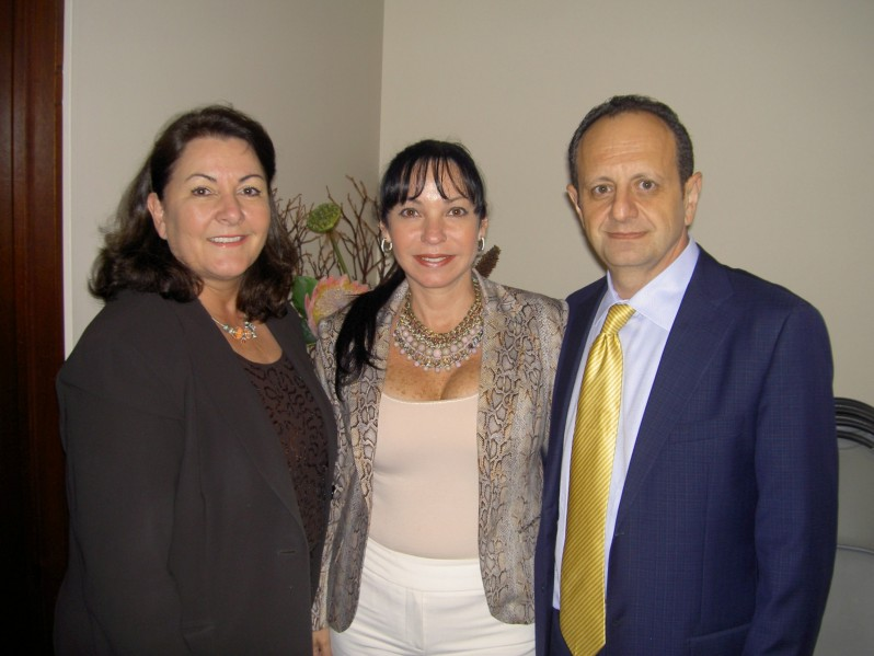 Sandy Sosa-Guerrero, CEO, Alba Michel and Dr. Jack Michel, Chairman of the Board, Larkin Hospital. Photo: Arquimedes Trujillo