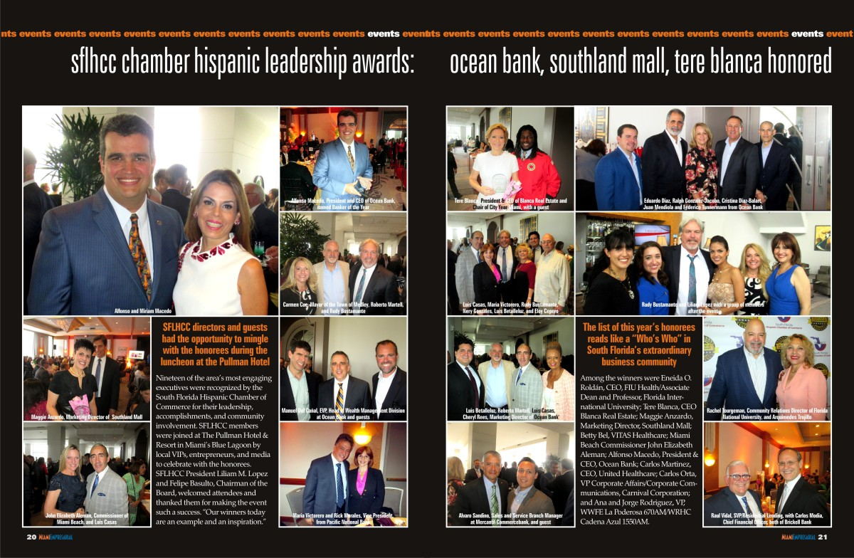 SFLHCC Hispanic Leadership Awards w