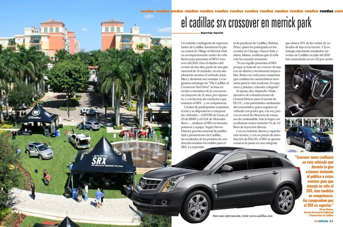 Cadillac in Village of Merrick Park